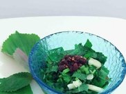 香椿芽拌豆腐能刮油降火瘦小腹,用于治疗感染