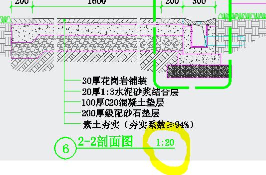 cad 图纸中 局部 图纸下面 标注 的比例是什么意思