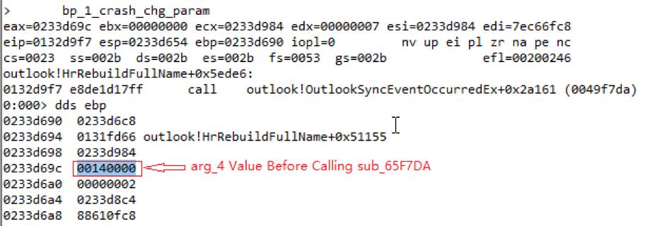 图12. 调用子函数sub_65F7DA之前arg_4的值