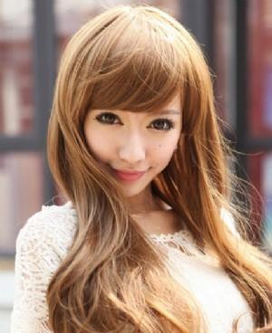 中亚麻金棕色_20多岁的女孩染金棕色的头发还是亚麻色的头发好看啊,皮肤很白 ...