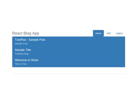 Creating a Blogging App Using React - 众成翻译