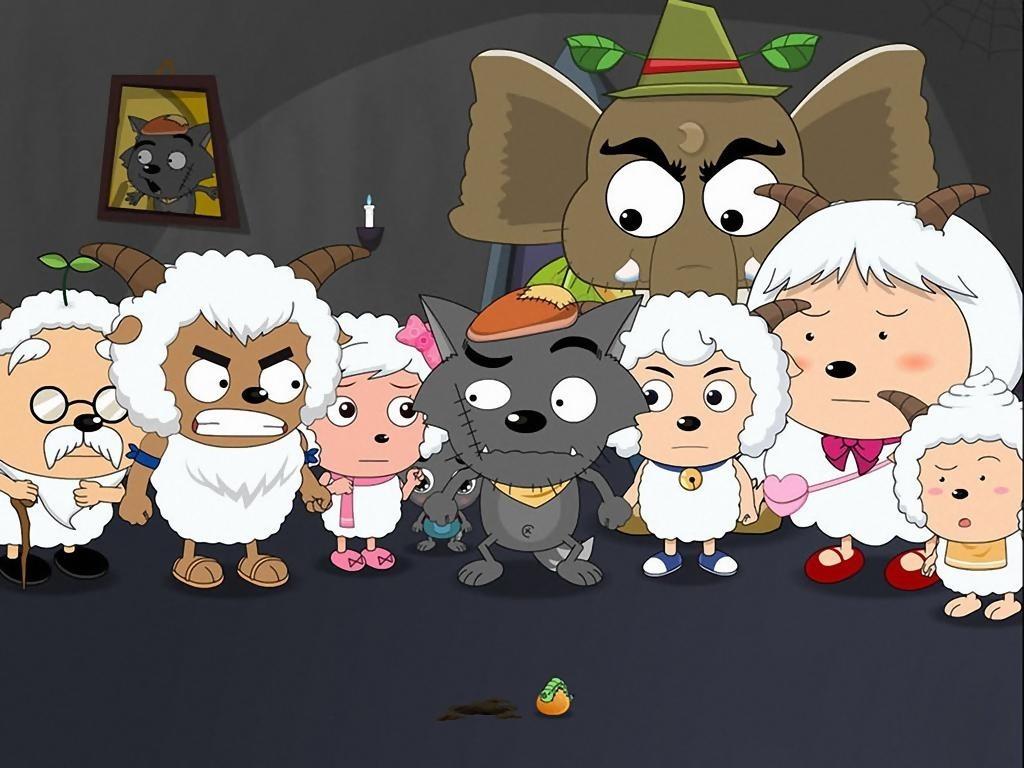 美美羊羊与灰太狼_喜羊羊动画片人物图片_喜羊羊动画片人物图片画法
